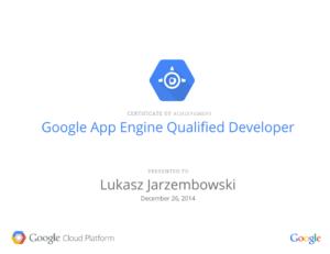 Google App Engine Qualified Developer